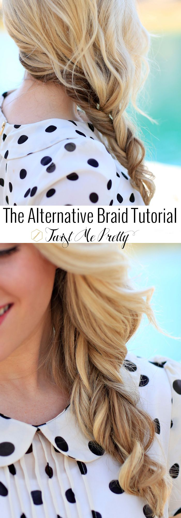 Learning this braid for summer is a must!  It's two sections twisted together -- I've never seen anything like it.  It holds shorter layers and looks so gorgeous when fluffed out.  Come checkout the tutorial from Abby at Twist Me Pretty