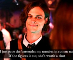 The world definitely needs more men like this. :)Movie Quotes She The Man, Roman Numerals, Criminal Mindfulness, Spencer Reid, Funny, Romans Numerals Spencer, Reid Criminal Minds, Criminalminds, Matthew Gray Gubler
