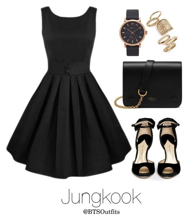 """""""College Graduation Ceremony with Jungkook"""" by btsoutfits ❤ liked on Polyvore featuring Topshop, Paul Andrew, Marc Jacobs and Mulberry"""