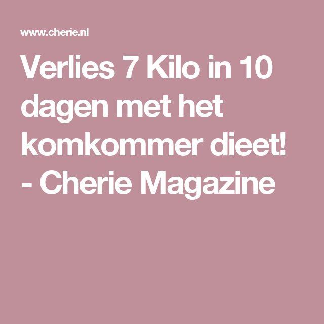 Verlies 7 Kilo in 10 dagen met het komkommer dieet! - Cherie Magazine