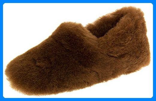 Somerset Footwear Ltd. Damen Echte Lammfell Hausschuhe Luxus Braun EU 38 - Slipper und mokassins für frauen (*Partner-Link)