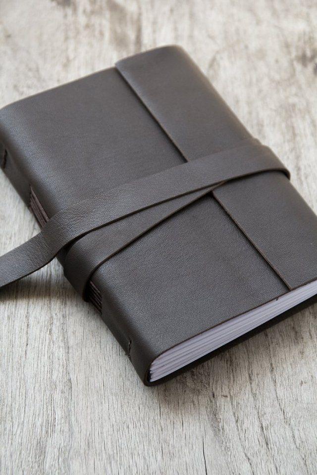 Skórzany notes czekolada