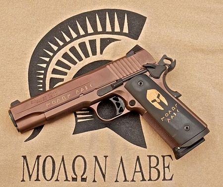 Sig Spartan 1911 Brand New Sig Spartan .45 1911. A whole lot of bad as right here!