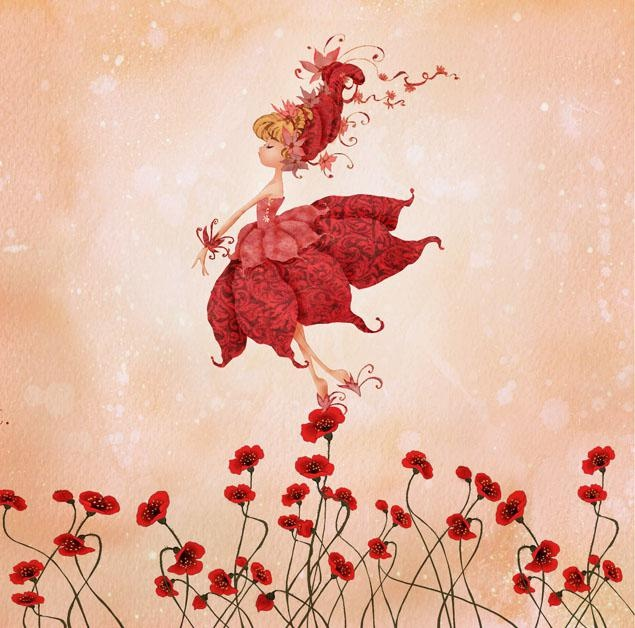 Танец с цветами картинки, детьми