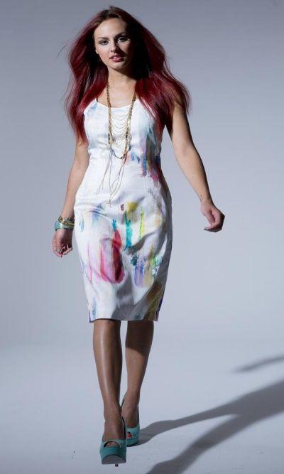 Summer 13 - 82223 Aquarelle Shift Dress