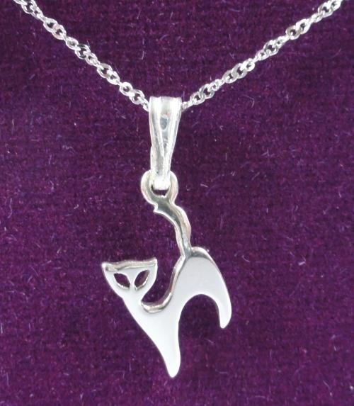 Mad About Cats : Silver Stylish Cat Pendant £11.99 For more Detail > http://www.madaboutcats.com/gifts.php?itemProduct=Silver%20Stylish%20Cat%20Pendant%20%3C!--%2011.99%20--%3E#