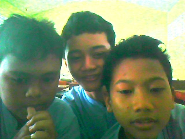 me in classroom with friend