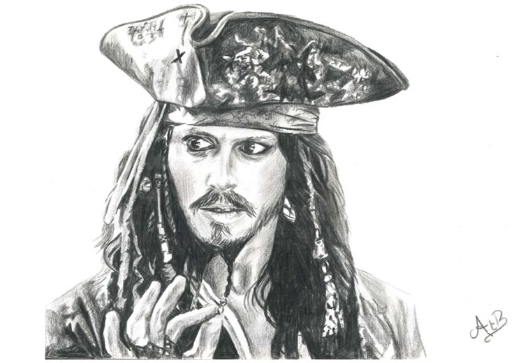 Jack Sparrow - pencil drawing - AstridtenBosch - 2014