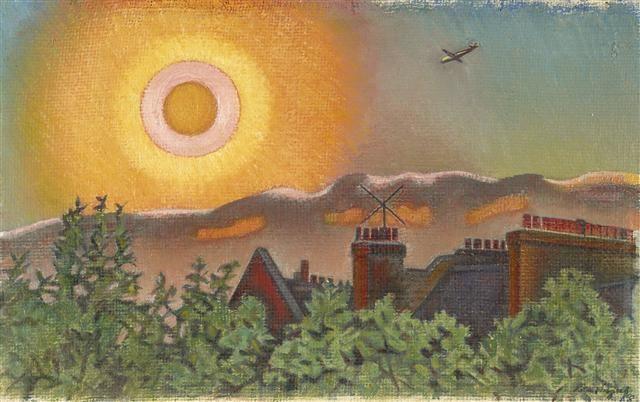 Sunset, London, 1958, Rita Angus