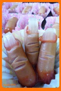 """Halloween """"finger"""" food"""