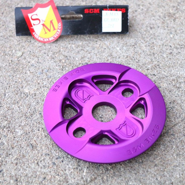 Chainrings and BMX Sprockets 177811: Sandm Bmx Bike X-Man Guard Bicycle Sprocket Purple 25T Or 28T Made In Usa Fit Cult -> BUY IT NOW ONLY: $64.95 on eBay!