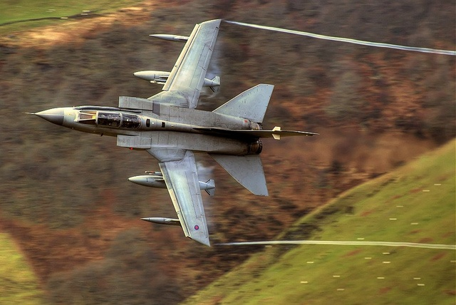 Tornado GR4 Mid Wales by ukmjk, via Flickr Low level Aircraft shot from the Mach Loop in Wales