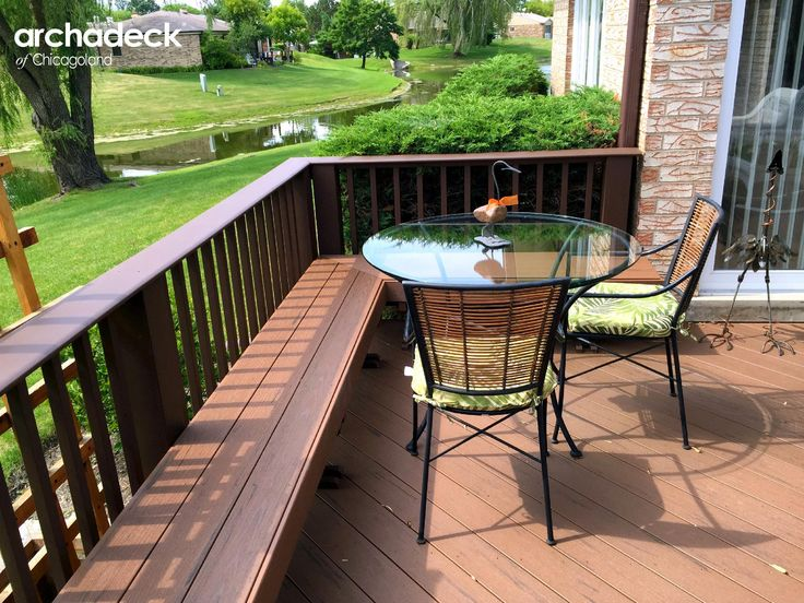 117 best images about built in deck seating benches for Small deck seating ideas