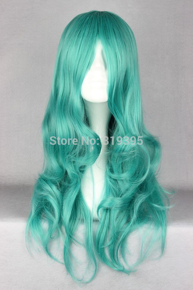 Cosplay Costume Wigs 65cm long wavy Sailor Moon Sailor Neptune Bleach Neliel Tu Oderschvank  Anime Hair Green-in Wigs from Beauty & Health on Aliexpress.com   Alibaba Group
