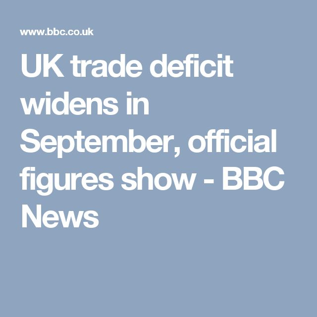 UK trade deficit widens in September, official figures show - BBC News