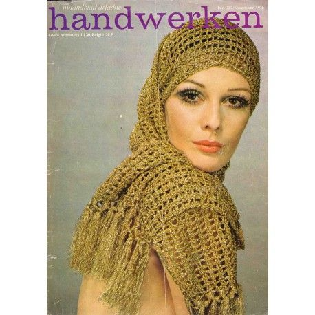vintage retro seventies crochet shawl from Ariadne Dutch crafts magazine 1970  http://www.breigarenkopen.nl/index.php?id_product=90&controller=product&id_lang=2