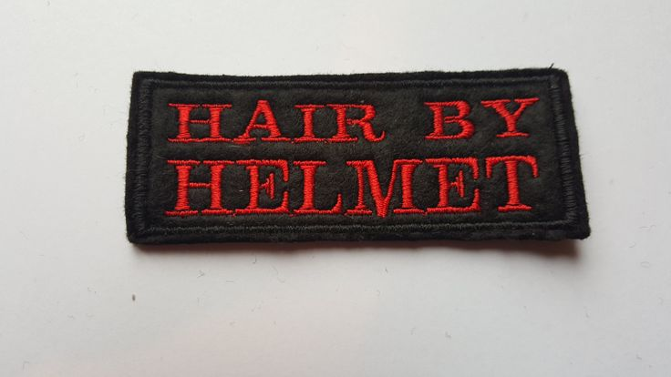 Hair by Motorcycle patch biker club team embroidered funny humor by AllsortsofBolton on Etsy