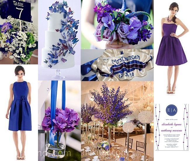 purple blue centerpieces for wedding   Royal Blue and Purple Centerpieces: Chelsea Flower Shop Image Courtesy ...