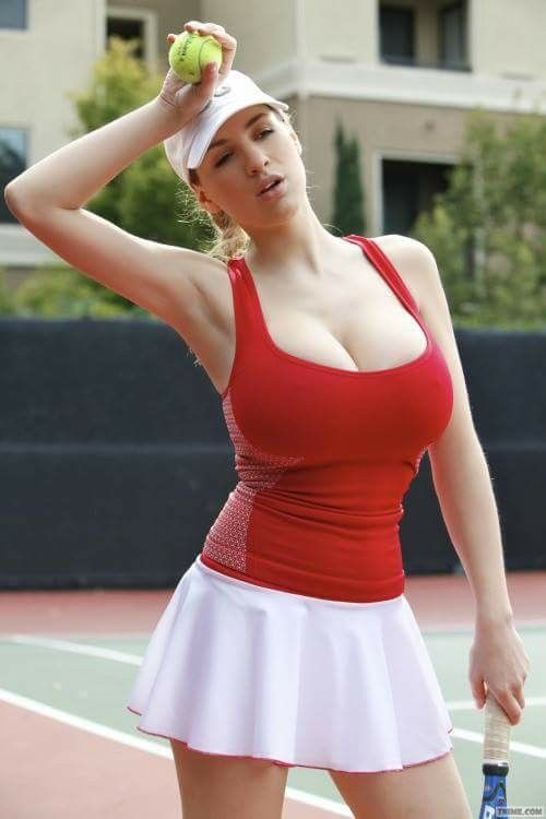 About busty tennis player
