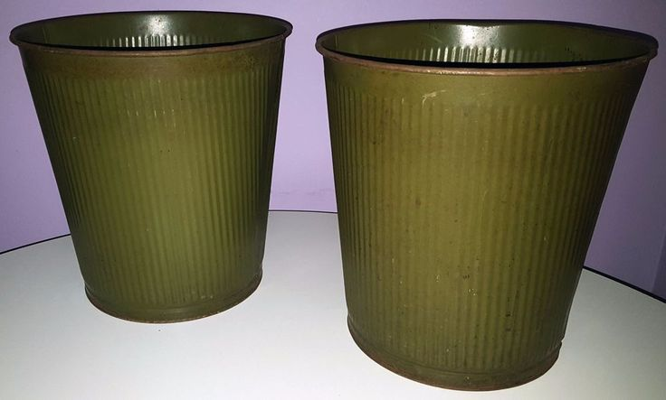 1950's CanCo industrial waste baskets