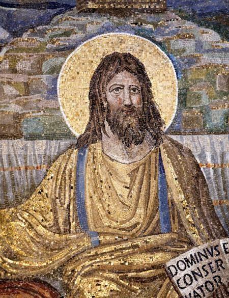 Basilica di Santa Pudenziana, Roma. Il mosaico, Cristo in trono circondato dagli apostoli, 390.
