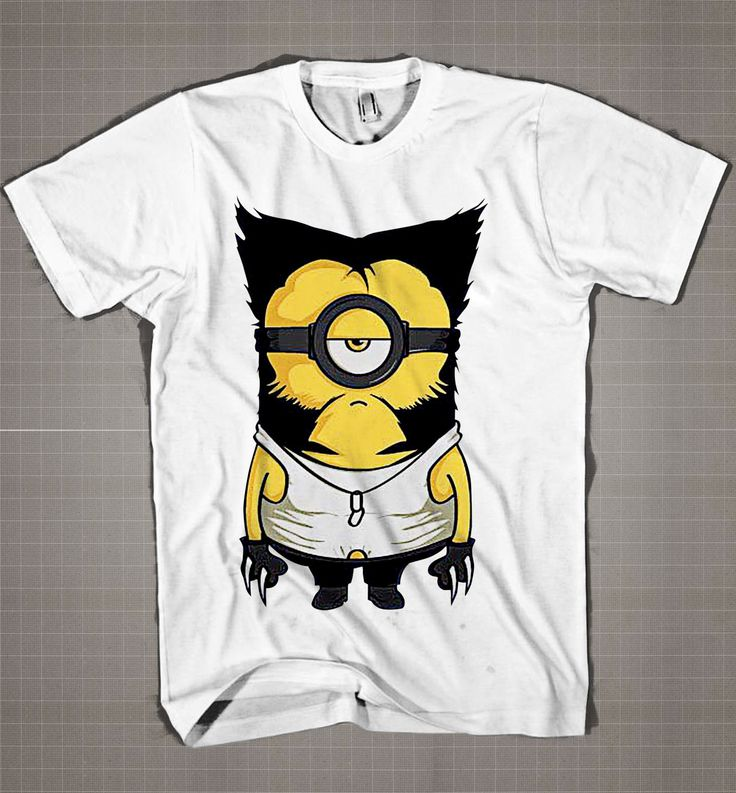 Wolverine MINION Parody  Mens and Women T-Shirt Available Color Black And White