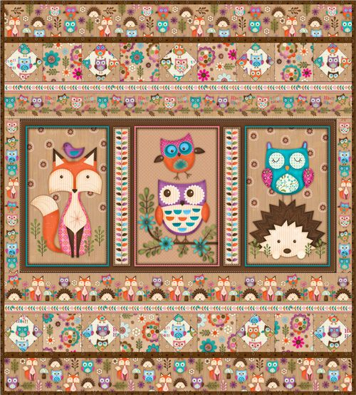 Man Cave Quilt Kit : Woodland critters by spx fabrics kit includes exact fabric