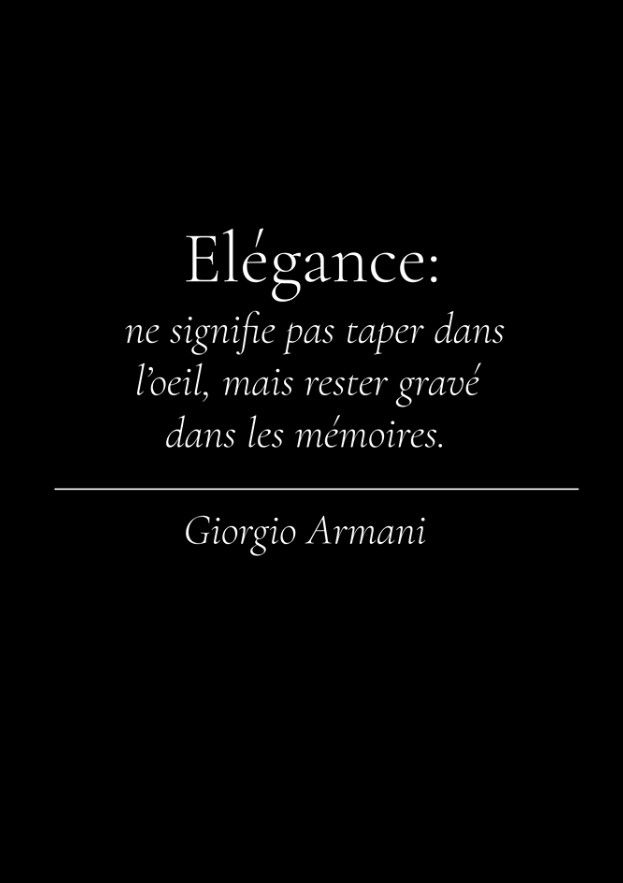 Elegance: does not mean to type in the eye, but to remain engraved in the memories.