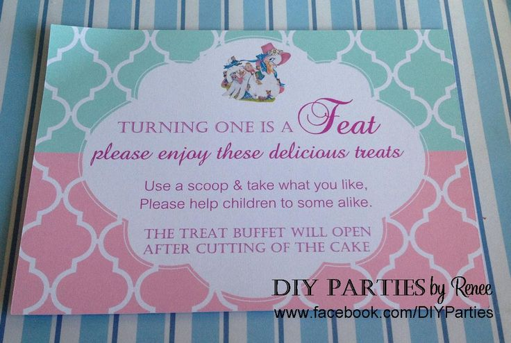 Table Sign - Nursery Rhyme. Find us on Facebook:  www.facebook.com/diyparties