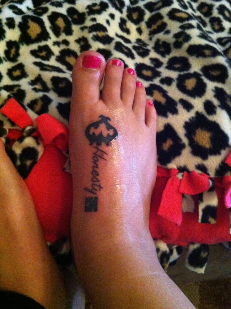 Honesty key tattoo