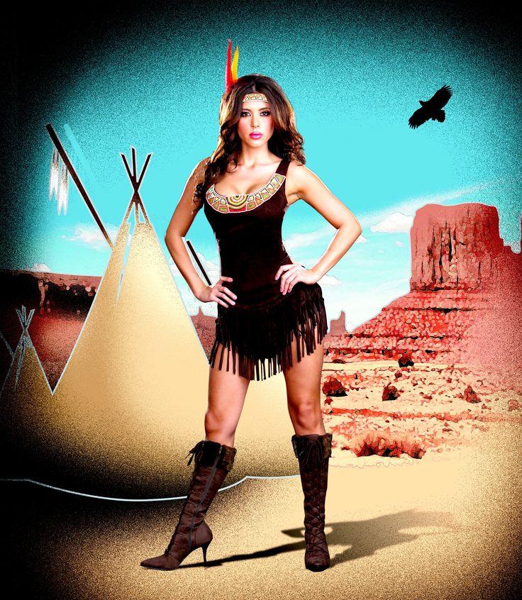 Sexy Pocahontas Native American Costume #halloween #indian