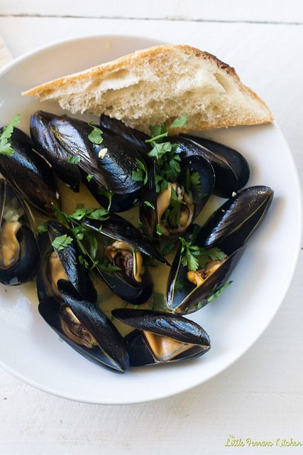 Julia Child's Mussels Mariniere via LittleFerraroKitchen.com by FerraroKitchen1, via Flickr
