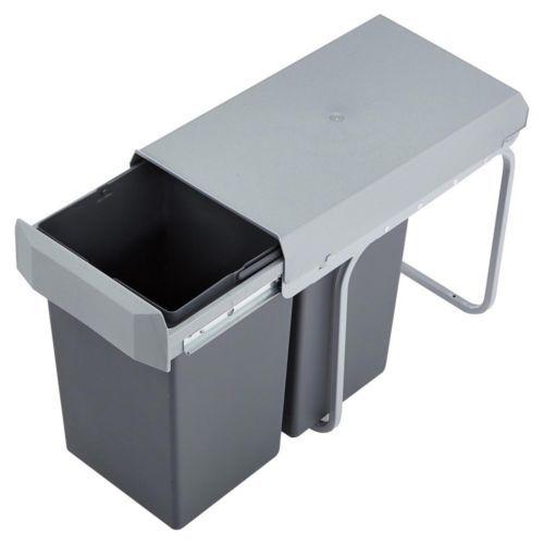 Einbau Mülleimer 2 X 15 Liter Wesco Double BOY Abfallsammler Silber Anthrazit | eBay