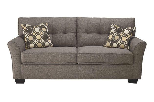 Gray Tibbee Full Sofa Sleeper by Ashley HomeStore, Polyester (100 %)