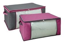 Zippered Blanket Bag - Pewter & Orchid College Dorm Bedding Accessory