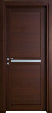 #Porte #interne modello 2F.V5  in #legno listellare. Rivestimento esterno in Laminato. #Colore: Wenge'. Linea Stilo - Catalogo #Motivo.