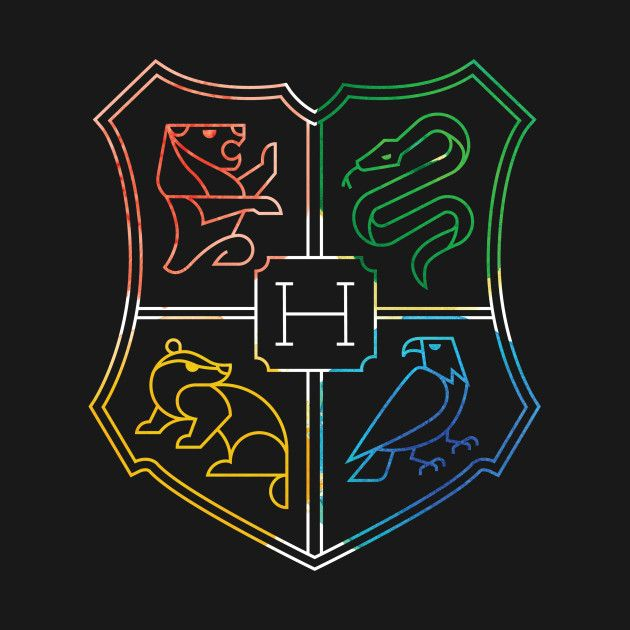 Hogwarts Crest Minimal Color Harry Potter Drawings Harry Potter