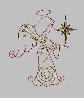 Créations de la petite fée pochette: Un ange pour vous!  Ange ~ Motif de broderie machine gratuit <3 Angel ~ Free embroidery machine <3
