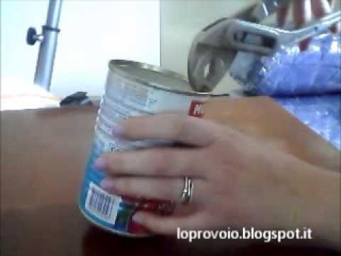 Come eliminare la parte tagliente dei barattoli di latta