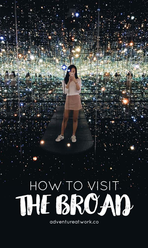 The Broad is one of the more popular contemporary art museums, located in Downtown Los Angeles. Because of it's popularity, you'll want to prepare for your visit ahead of time to make the most of it, so here's an article on how to visit the Broad and how to see the famous Infinity Mirrored Room!