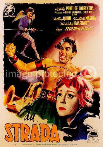 La Strada Vintage Anthony Quinn Movie 11x17 Poster