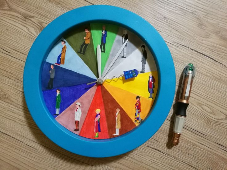 """""""The time of the doctor"""" - Doctor who clock & sonic screwdriver"""