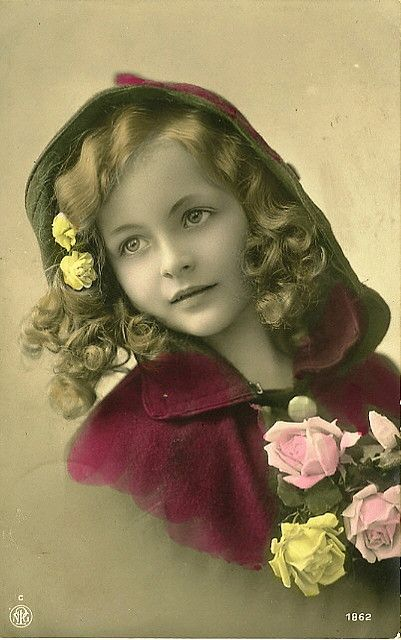 Vintage Postcard ~ Lovely Girl