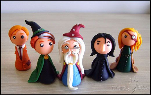 harry potter dumbledore snape made eye chibi clay