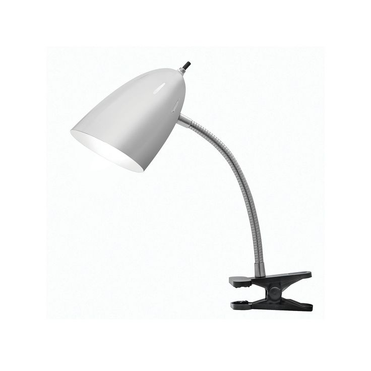 Tensor Gooseneck Clip-On Desk Lamp, Grey