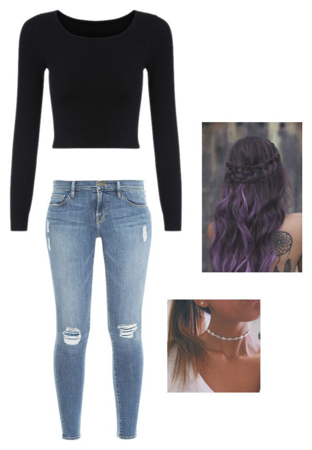 Untitled #72 by weird-fangirl on Polyvore featuring polyvore, fashion, style and Frame Denim