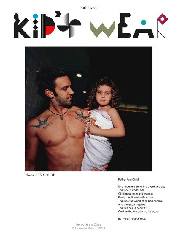 kid's wear Magazine Vol.45 - photo by Nan Goldin