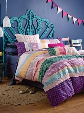 Kids Anja Quilt Cover Set from Linen House's Hiccups range, available at Forty Winks.