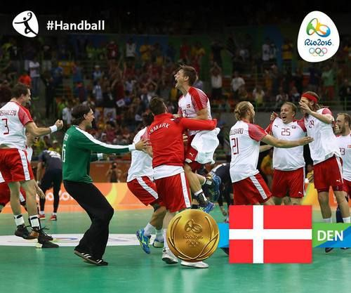 Denmark defeated France in men's handball! The Danish prevented a French three-peat with a 28-26 win. Rio 2016, Olympics, August 2016