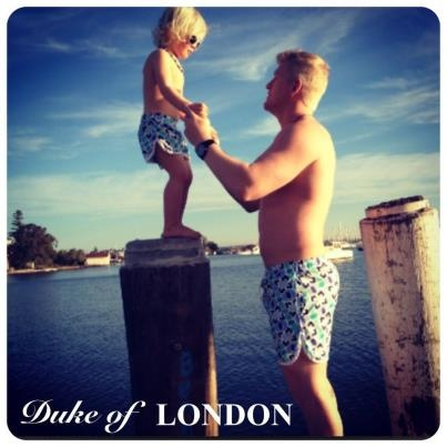 Put up your Dukes: Recent years have seen children of celebrity couples show superstar style...and let's face it; there is nothing cuter than a father and son in coordinated couture!  Available from Bondi Markets at the 'Duke of London'' stall.